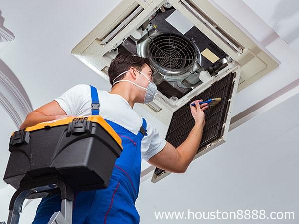 Sửa máy điều hòa: bơm ga và vệ sinh máy điều hòa ở Houston